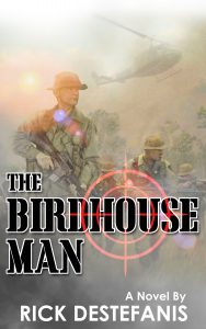 Birdhouse man book cover LRRP being dropped in Jungle
